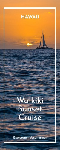 Take an Waikiki sunset cruise in Honolulu Hawaii with ww.ExplorationVacation.net