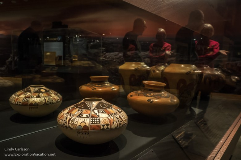 Hopi pottery at Western Spirit Scottsdale Arizona - www.ExplorationVacation.net