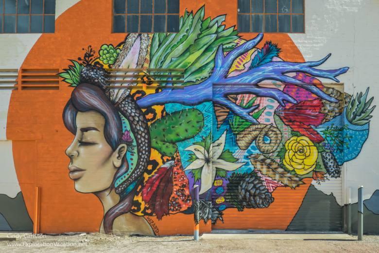 "Street art in Ajo Arizona ""Sonora"" by Harriet Wood aka Miss Hazard - ExplorationVacation.net"