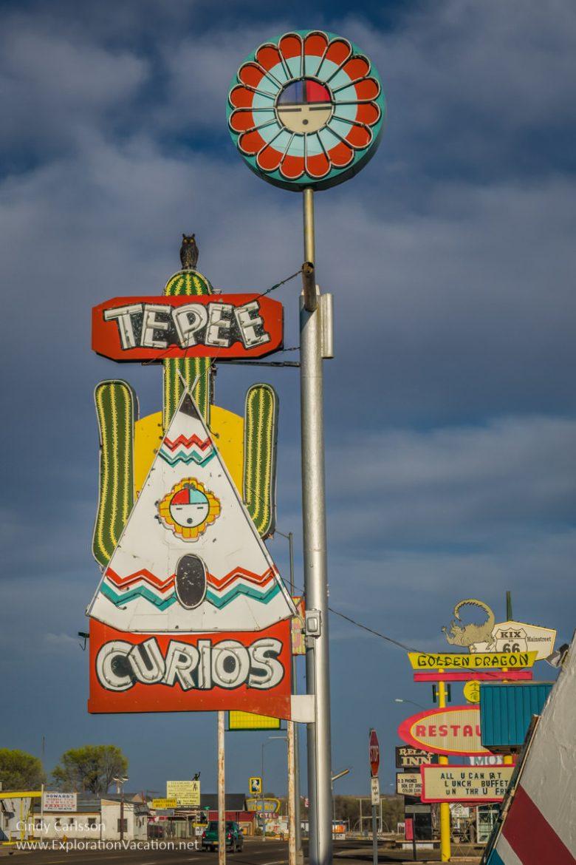 Tee Pee Curios along historic Route 66 in Tucumcari New Mexico - ExplorationVacation.net