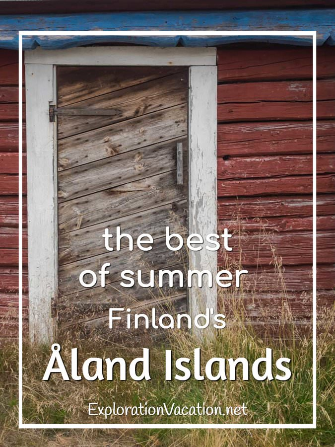 Open the door to find the perfect summer vacation in Finland's Åland Islands - ExplorationVacation #Finland #visitåland #discoverfinland #summervacation #alandislands