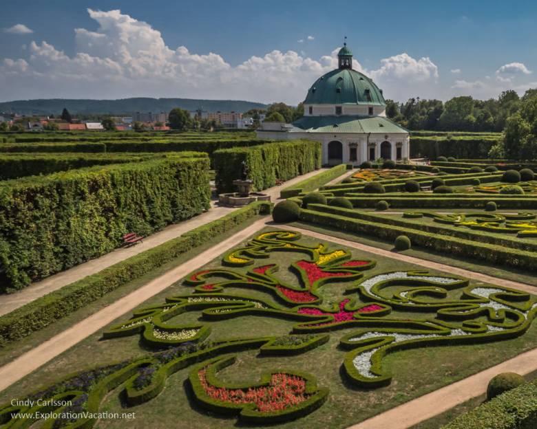 formal gardens and pavilion