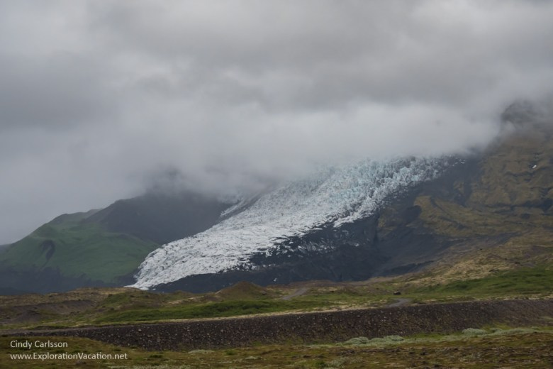 Glacial tongue seen from the Ring Road