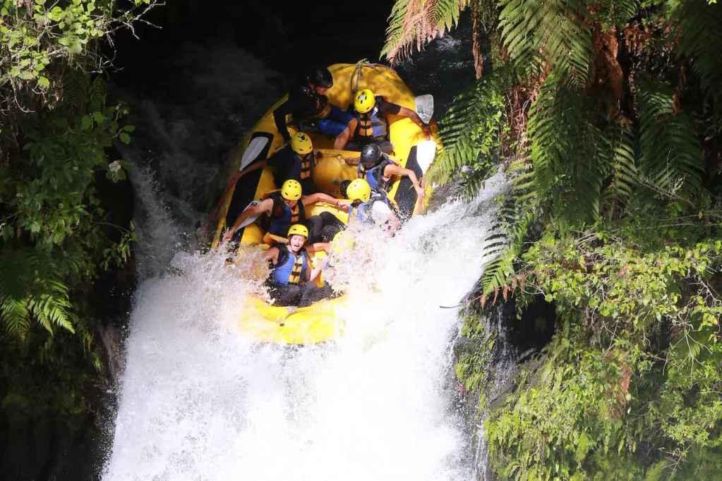 Rafting Kaituna river Neuseeland