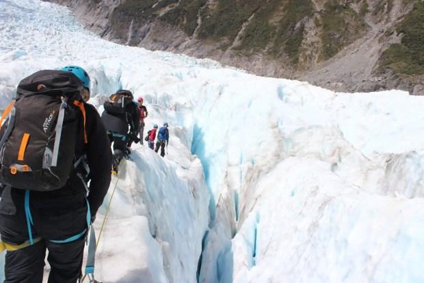 Spalten Gletschertour Neuseeland