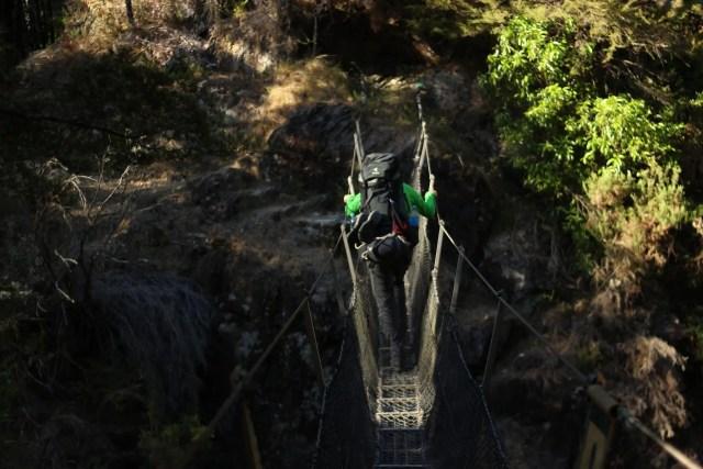Hängebrücke Fernwanderung Neuseeland