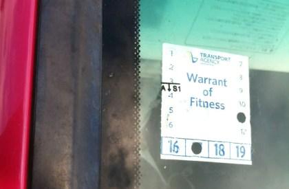 Autokauf in Neuseeland Warrant of Fitness