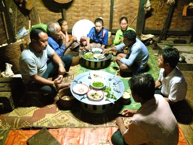 village chief family dinner