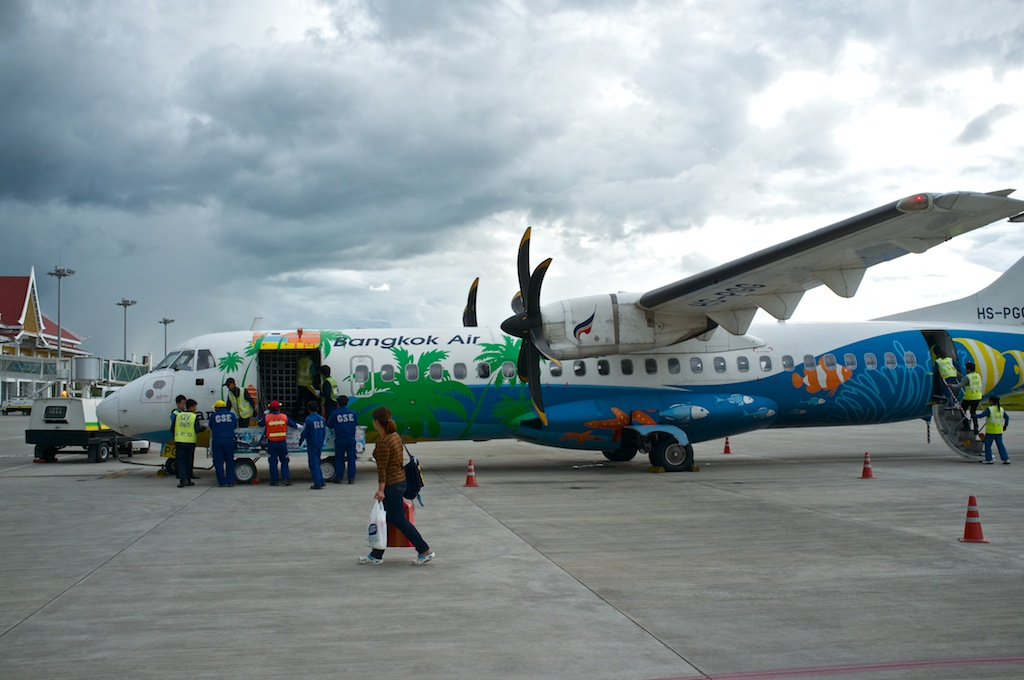 Luang Prabang Laos Airport Bangkok Airways Plane Adventure