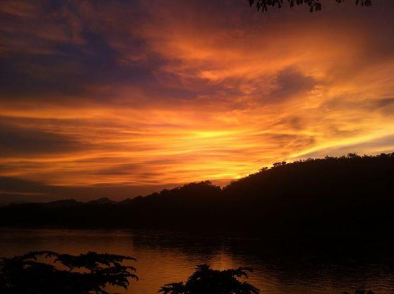 Luang Prabang Laos Sunset