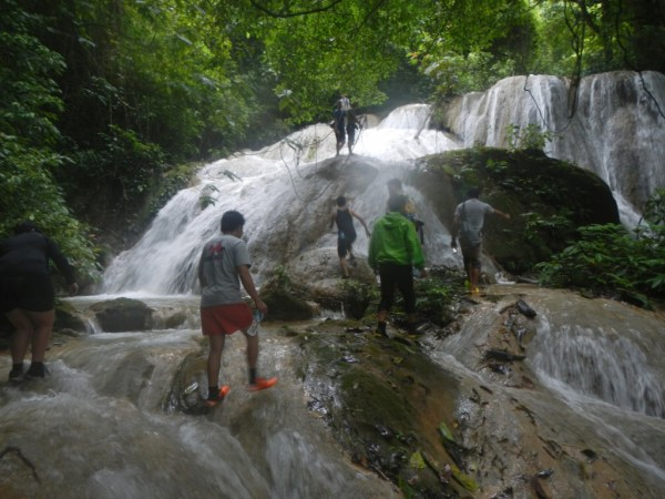 Secret Waterfall Hillside Luang Prabang Laos