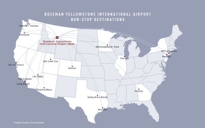 New Direct flights to Bozeman