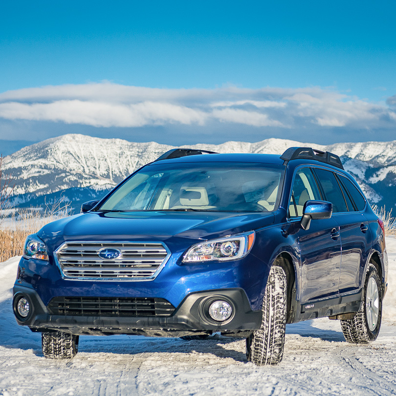 Rental SUV with snow tires
