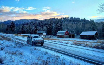 Snow Tires on Bozeman Rental Cars