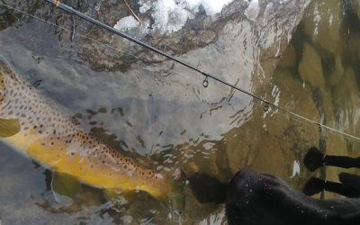 Winter fishing in Montana