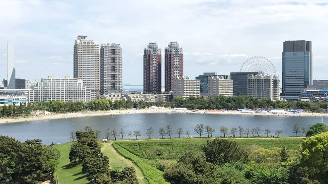 Skyline of Odaiba City