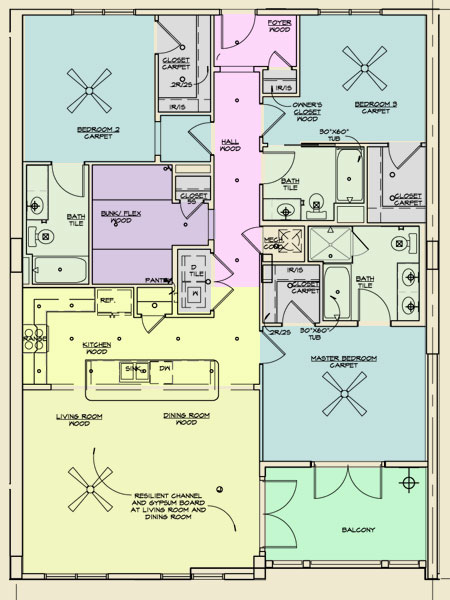 Redfish Village Unit D Floor Plans
