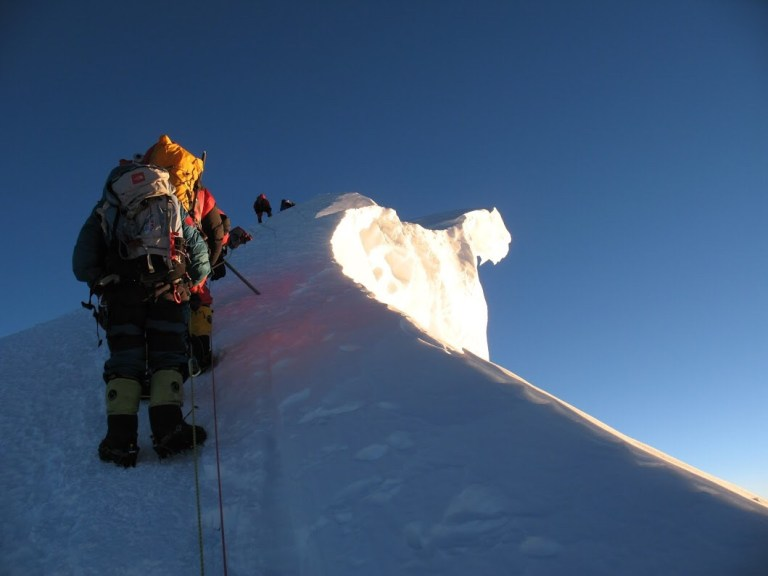 Everest Summit ridge