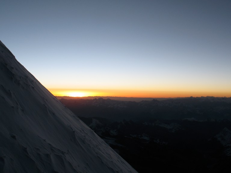 Everest, South summit, sunrise