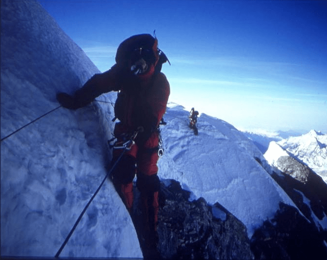 Everest summit ridge, Sibusisu Vilane