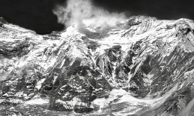 1988 Everest Kang 3 Hike ABC B&W EdW