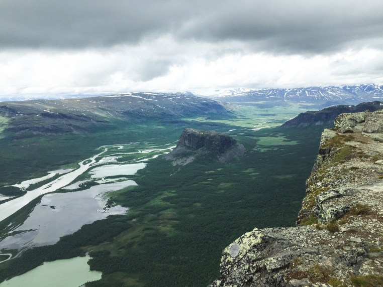 view from skierfe into sarek national park