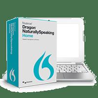 Computer running Dragon NaturallySpeaking software
