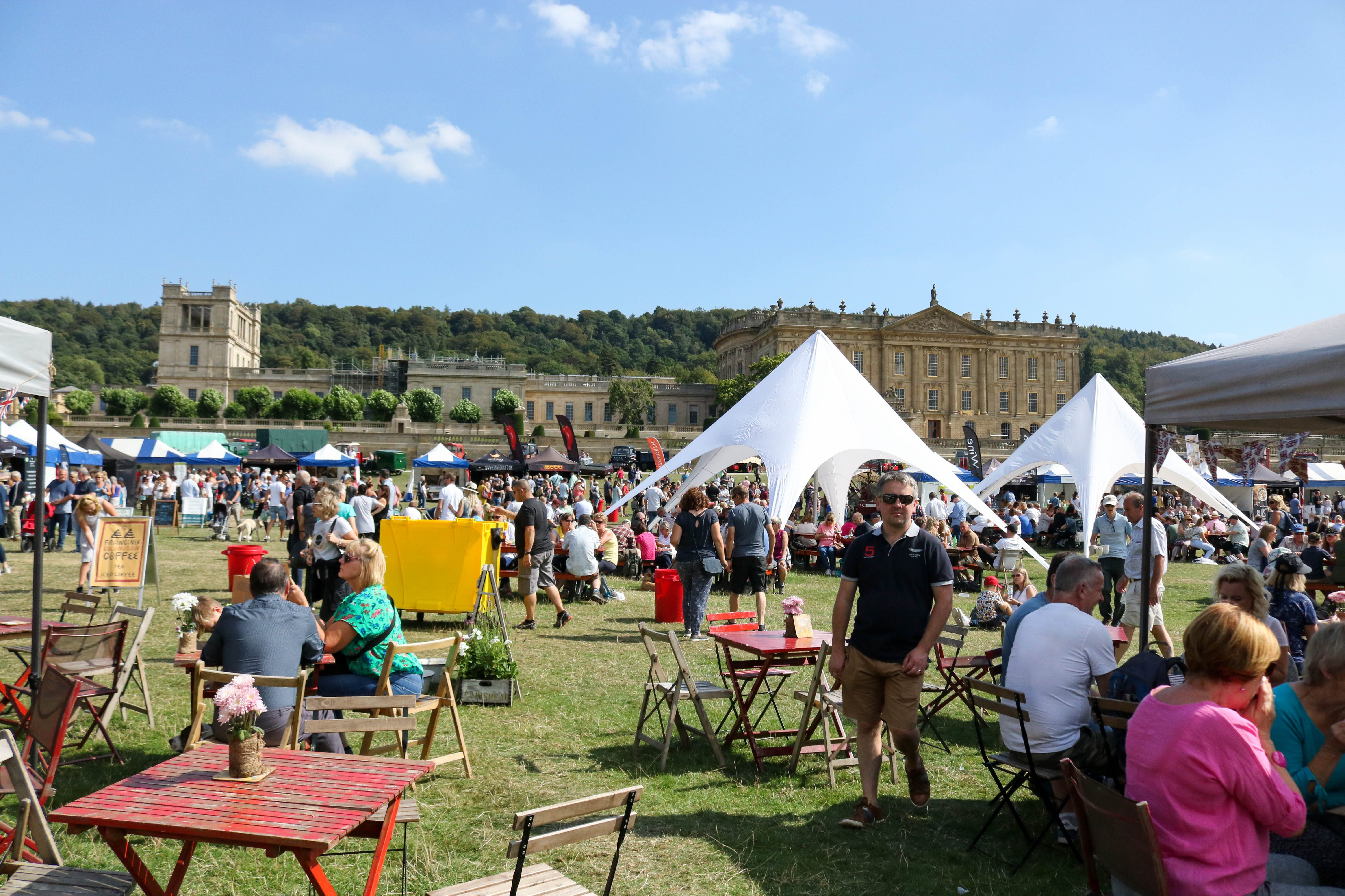 Trade Stands Chatsworth Country Fair : In pictures chatsworth country fair thousands flock