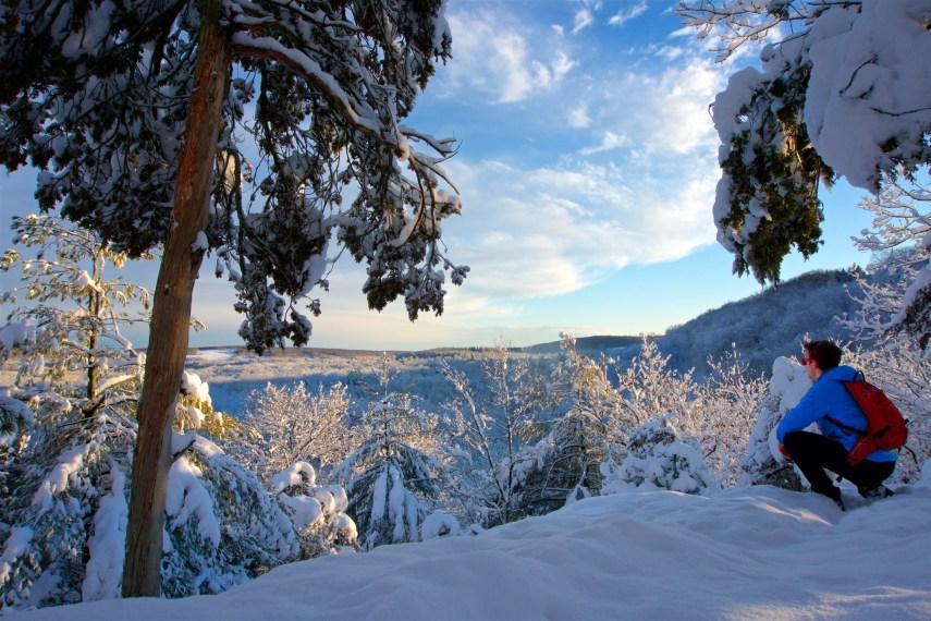 Baileys Ravine Winter Overlook