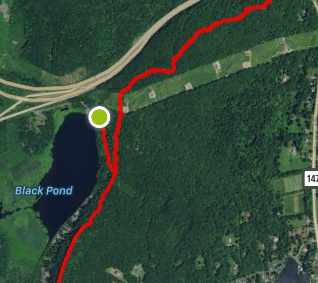Black Pond Trail Map