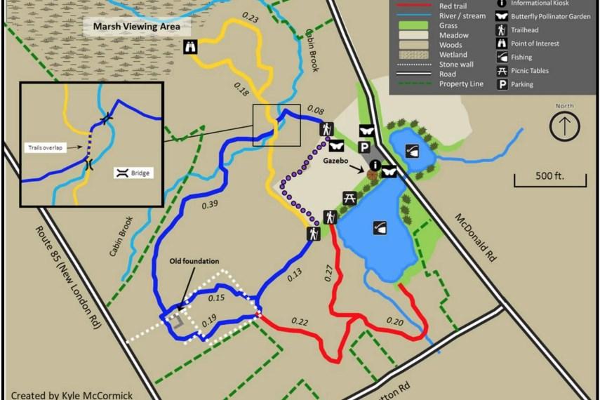 Cohen Woodlands Trail Map