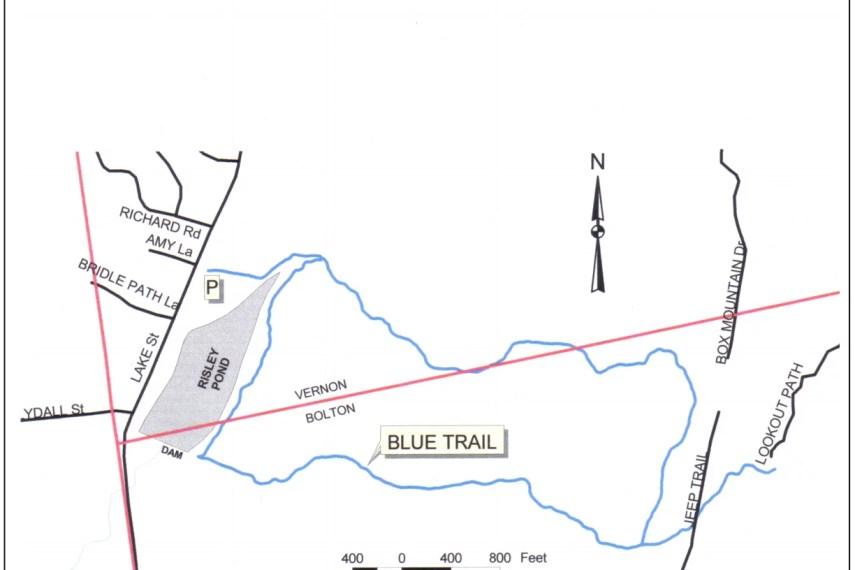 Risley Pond Map