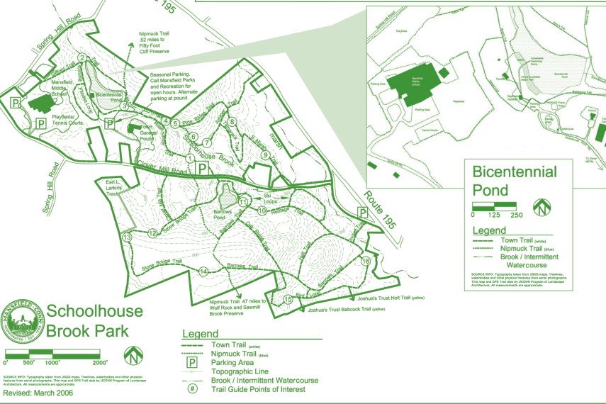 Schoolhouse Brook Trail Map