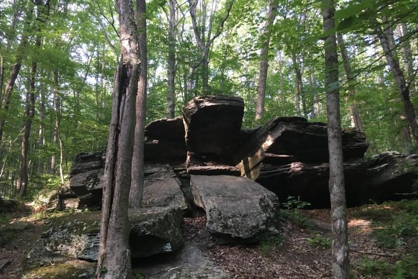 Shelter Falls Overhand Rock