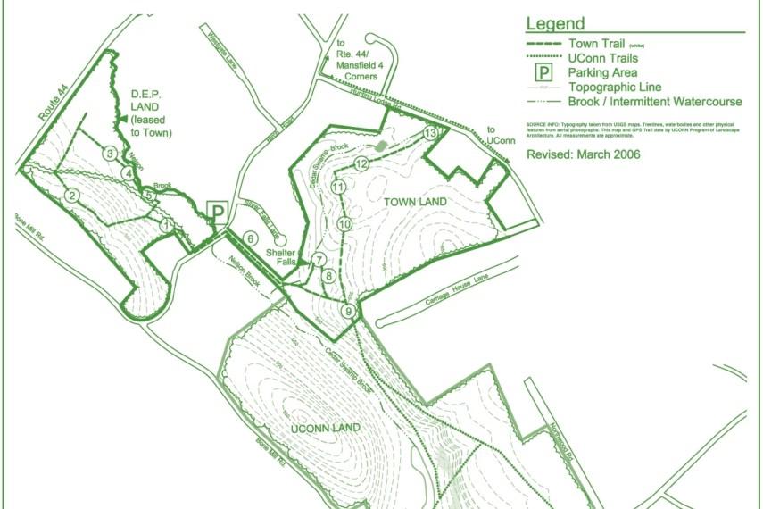 Shelter Falls Trail Map