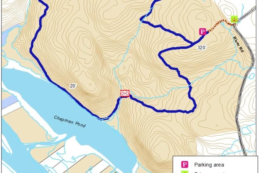Chapman Pond Trail Map