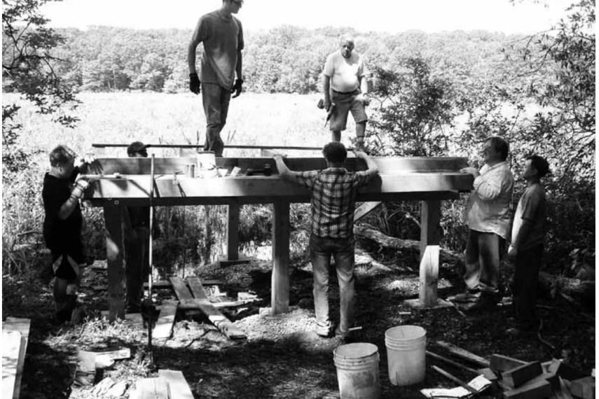 Goodwin Forest Observation Deck Construction