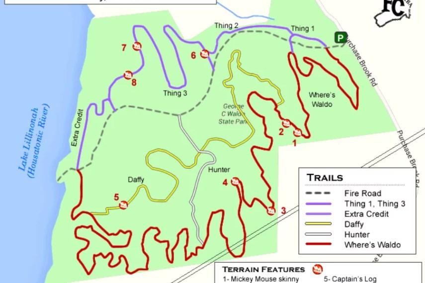 Waldo State Park Mountain Bike Map