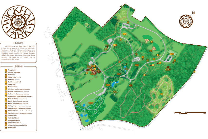 Wickham Park Map