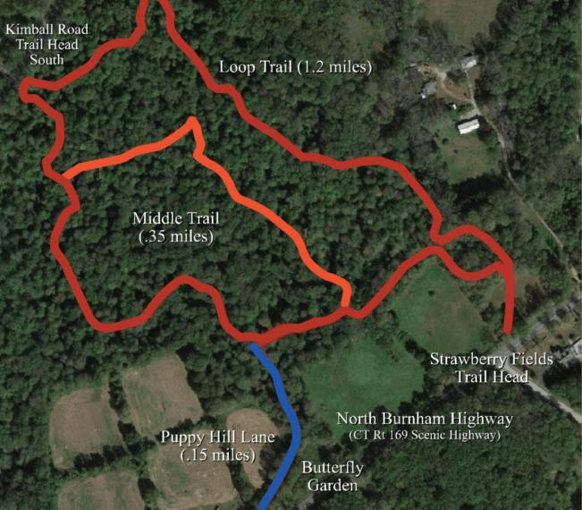 Burnham Tavern Trail Map