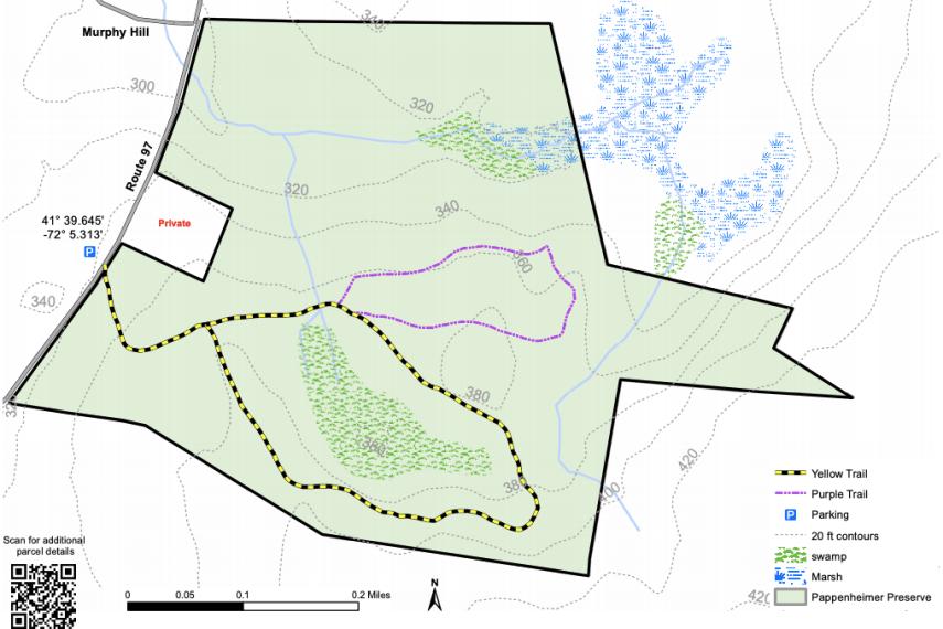 Pappenheimer Preserve Trail Map