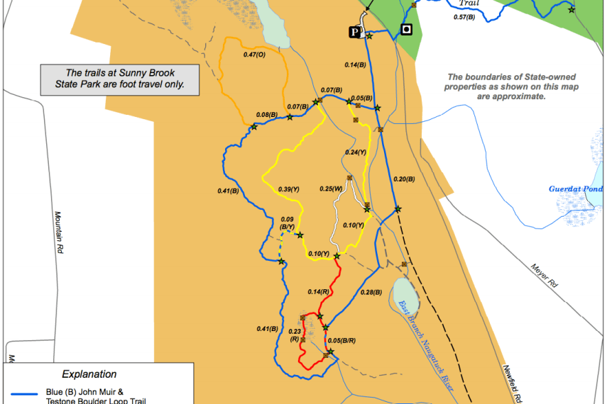 Sunny Brook State Park Trail Map