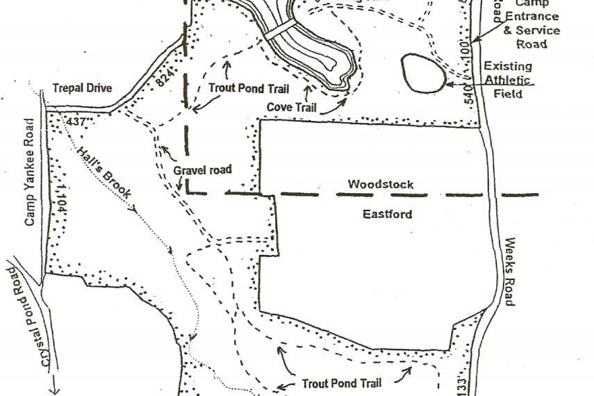 Crystal Pond Trail Map