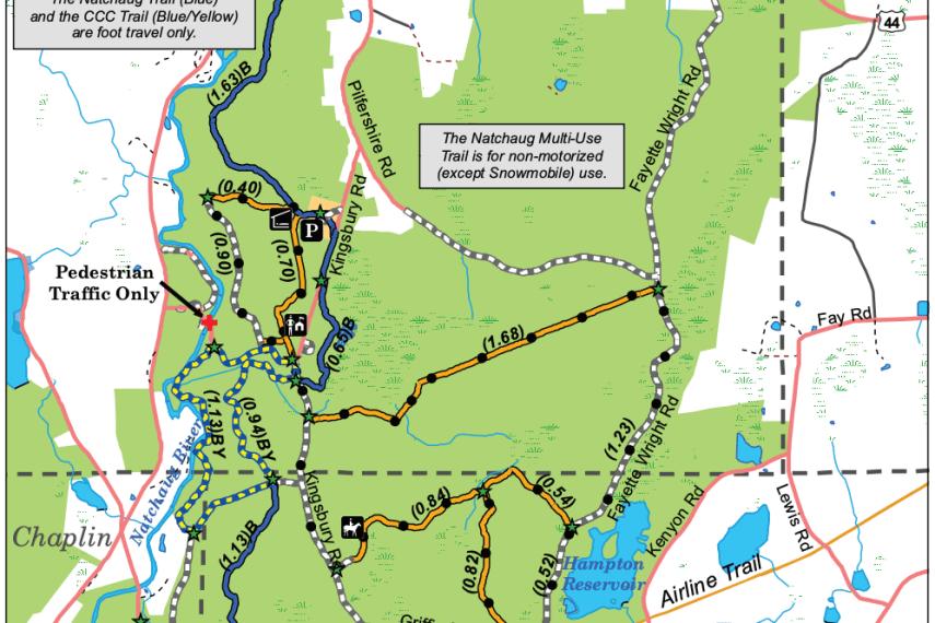 Natchaug State Forest Map