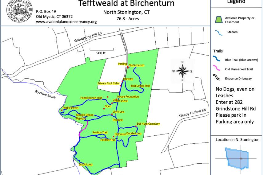 Tefftweald at Birchenturn Trail Map