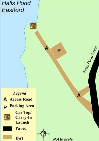 Halls Pond Boat Launch Map