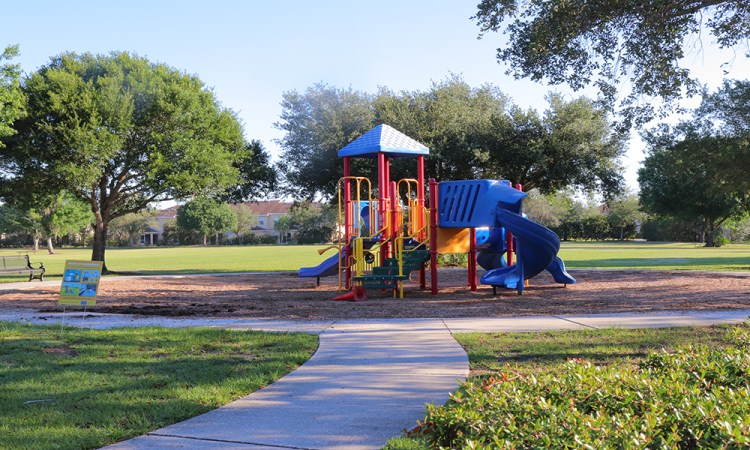 Greenbrook Park playground on sunny day