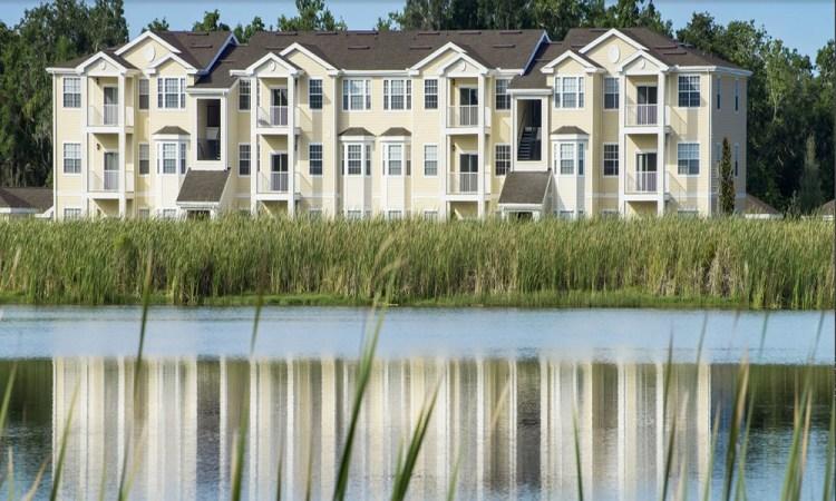 Ranch Lake Apartments with lake