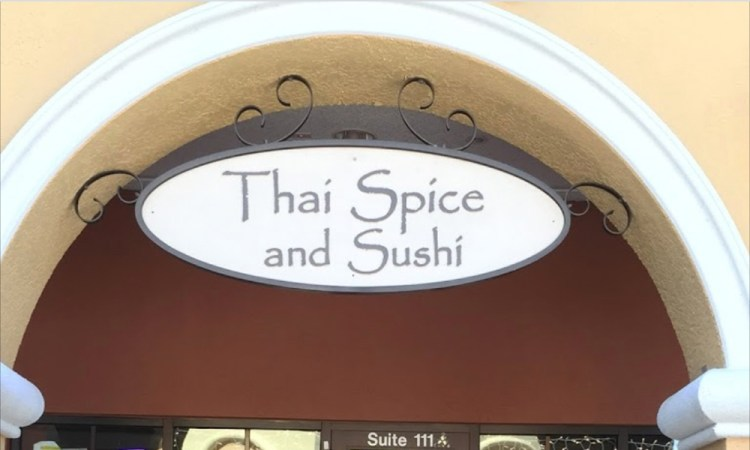 Thai Spice and Sushi sign