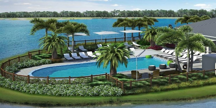 Waterfront at Main Pool Area